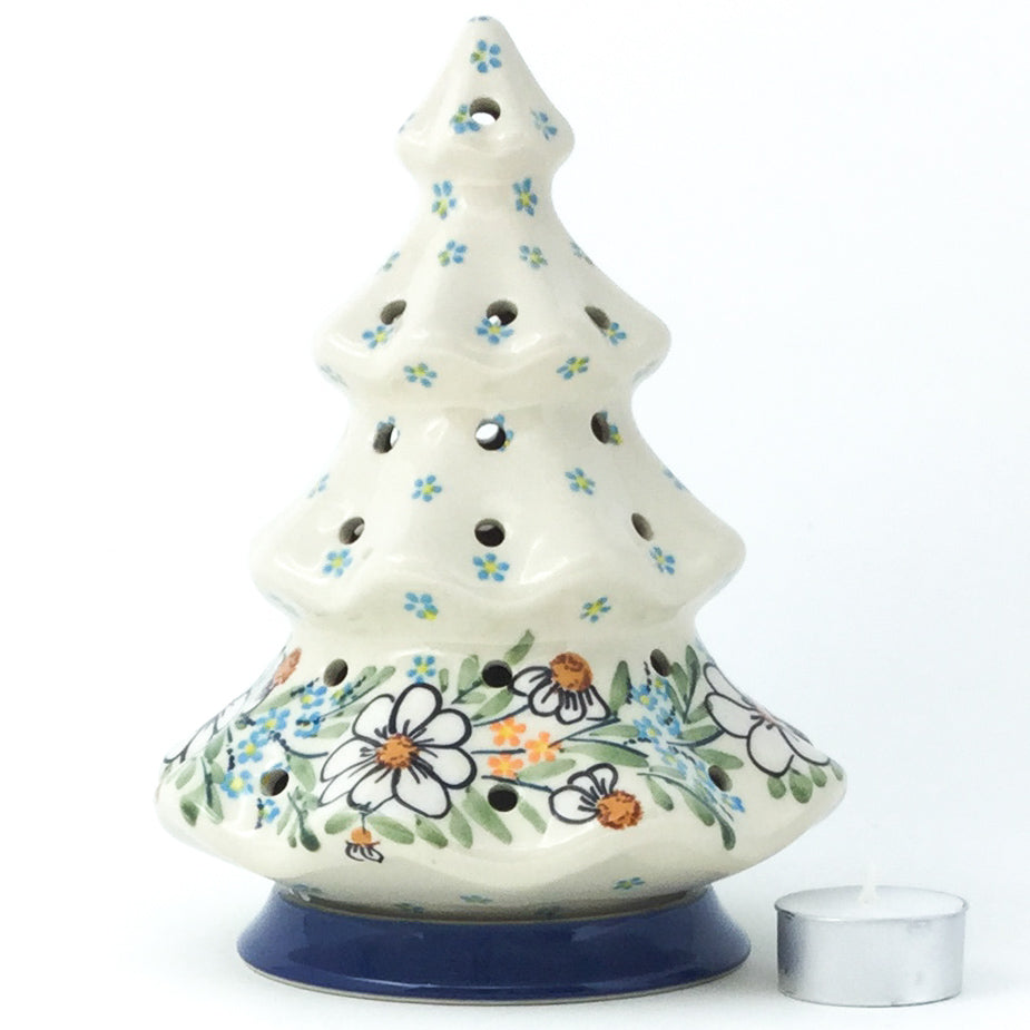 Tree Tea Candle Holder in Spectacular Daisy