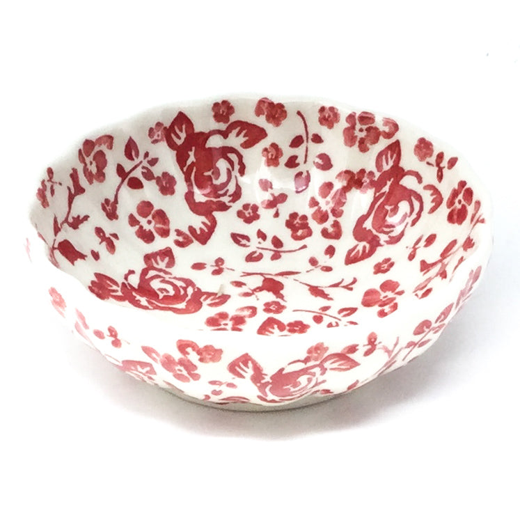 "Sm Shell Bowl 4.5"" in Antique Red"