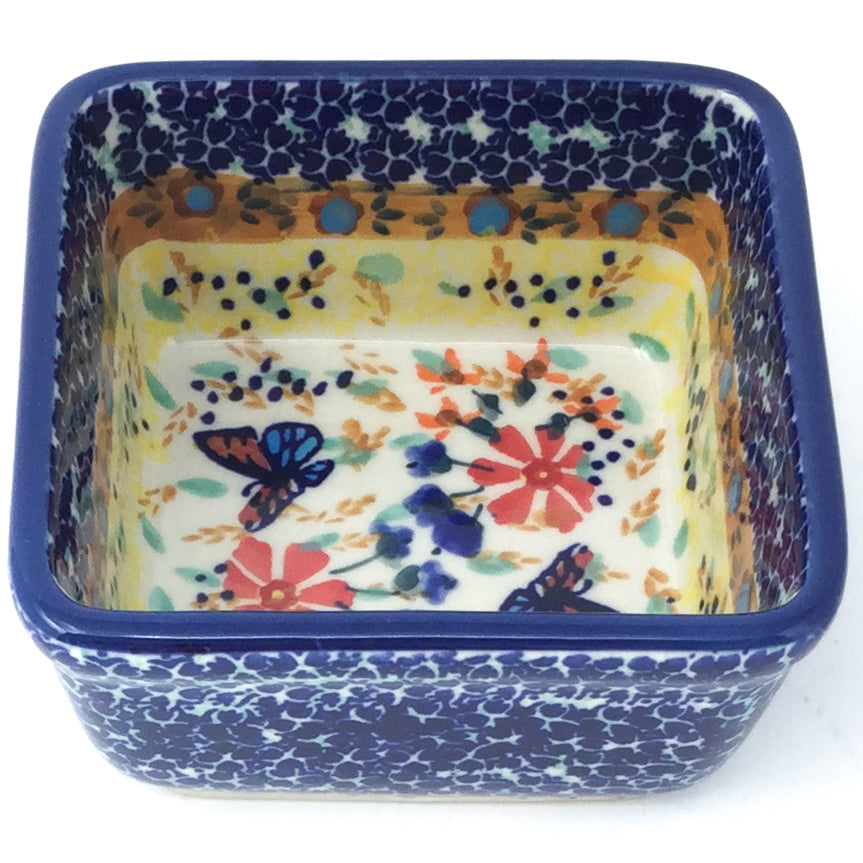 Tiny Sq. Bowl 8 oz in Butterfly Meadow