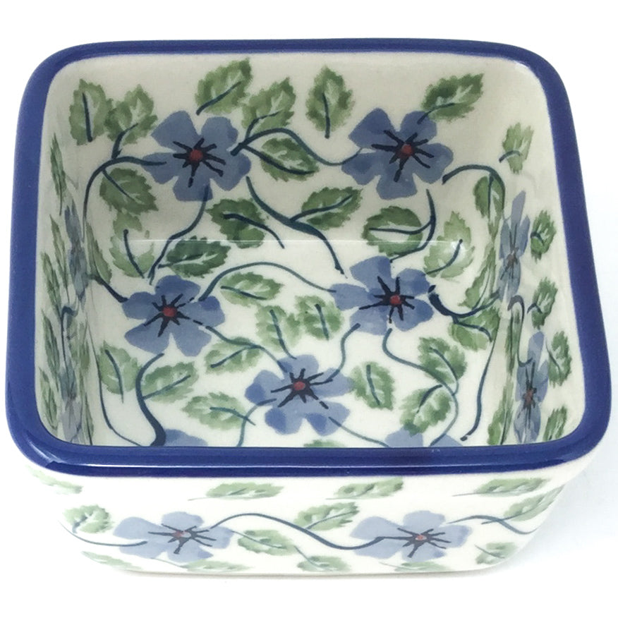 Tiny Sq. Bowl 8 oz in Blue Clematis