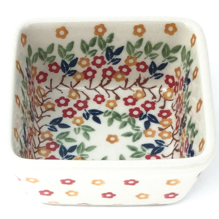 Tiny Sq. Bowl 8 oz in Tiny Flowers