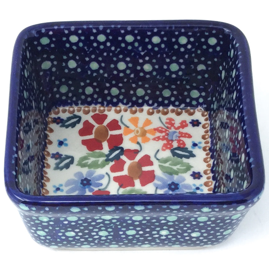 Tiny Sq. Bowl 8 oz in Wild Flowers