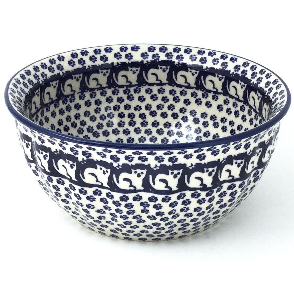 Scalloped Bowl 48 oz in Blue Cats