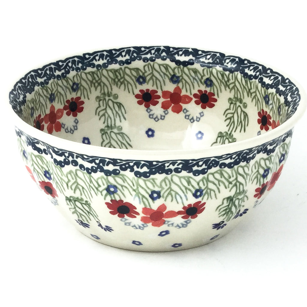 Scalloped Bowl 48 oz in Dill Flowers