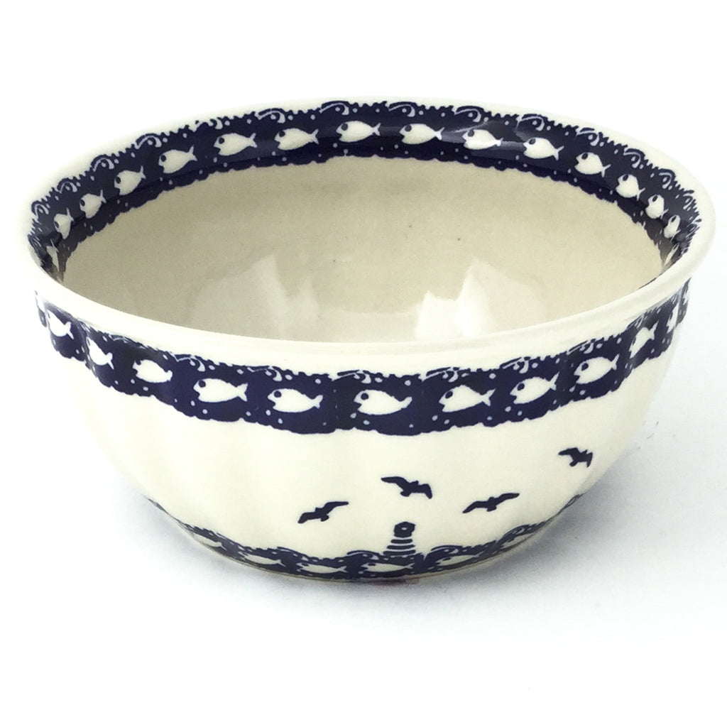 Scalloped Bowl 48 oz in Lighthouse