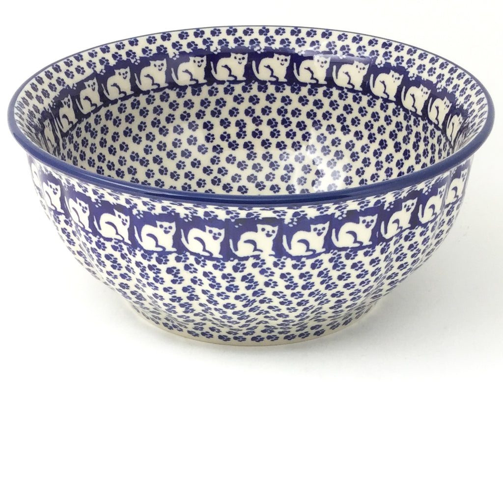 Scalloped Bowl 64 oz in Blue Cats