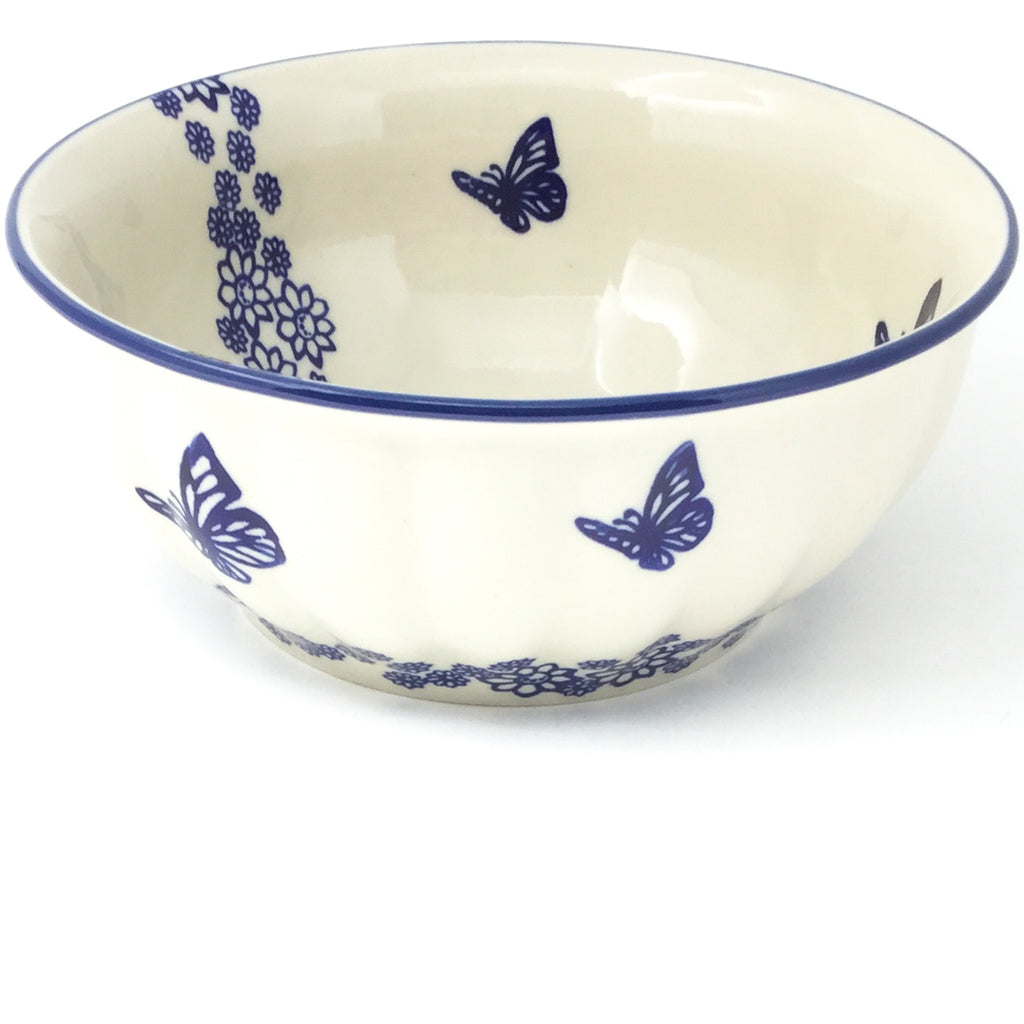 Scalloped Bowl 64 oz in Butterfly