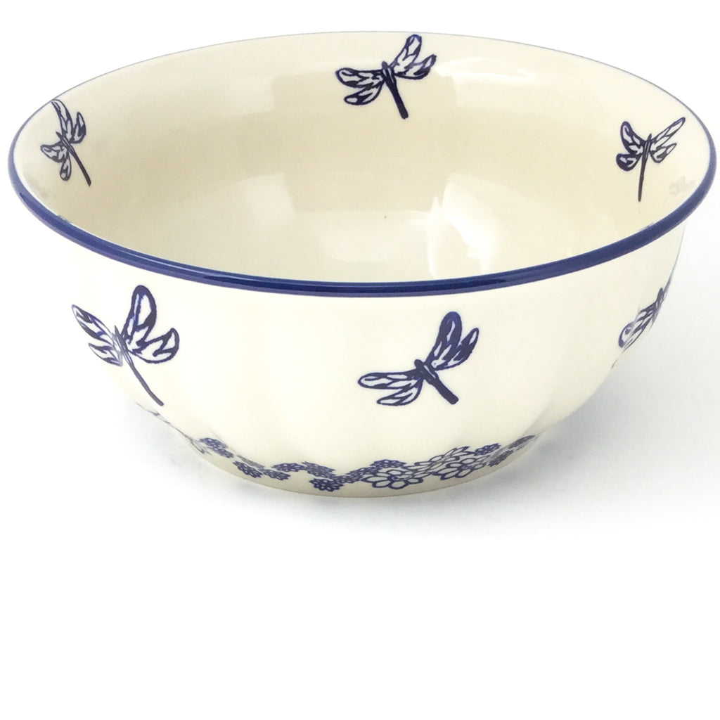Scalloped Bowl 64 oz in Dragonfly