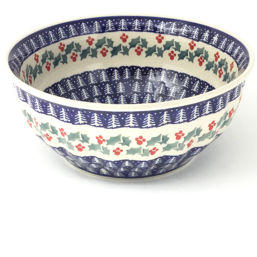 Scalloped Bowl 64 oz in Winter Holly