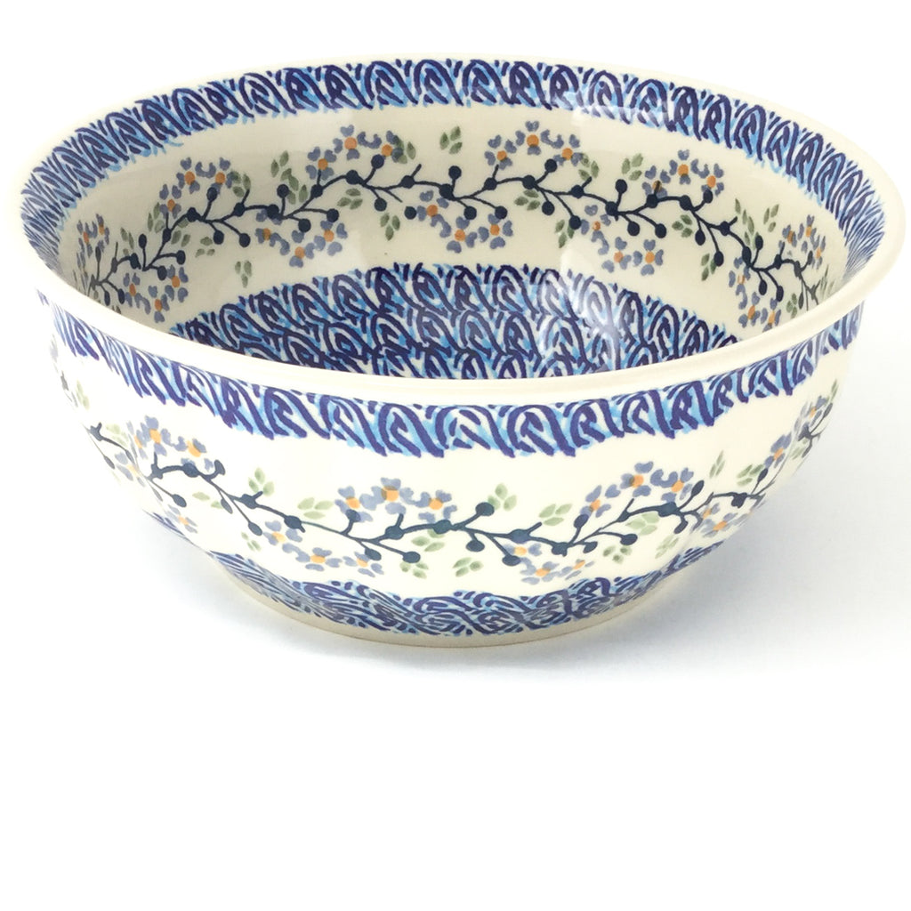 Scalloped Bowl 64 oz in Blue Meadow