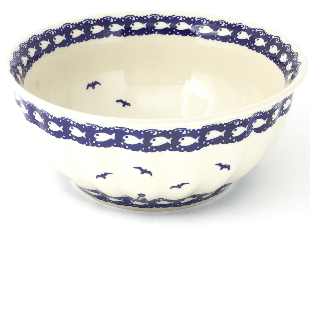 Scalloped Bowl 64 oz in Lighthouse