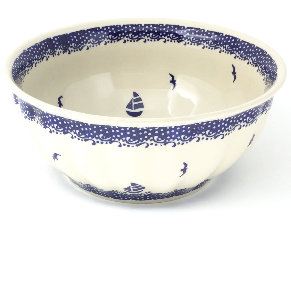 Scalloped Bowl 64 oz in Sailboat