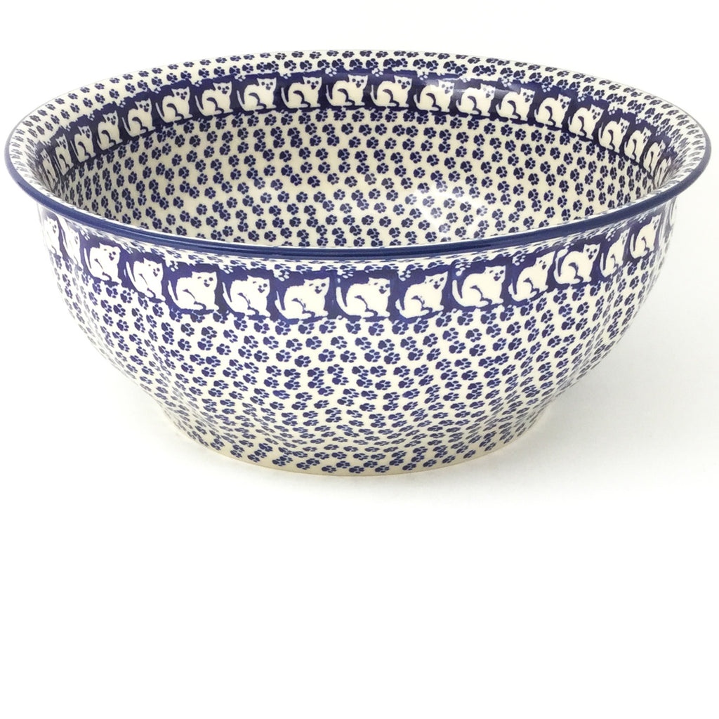 Scalloped Bowl 128 oz in Blue Cats
