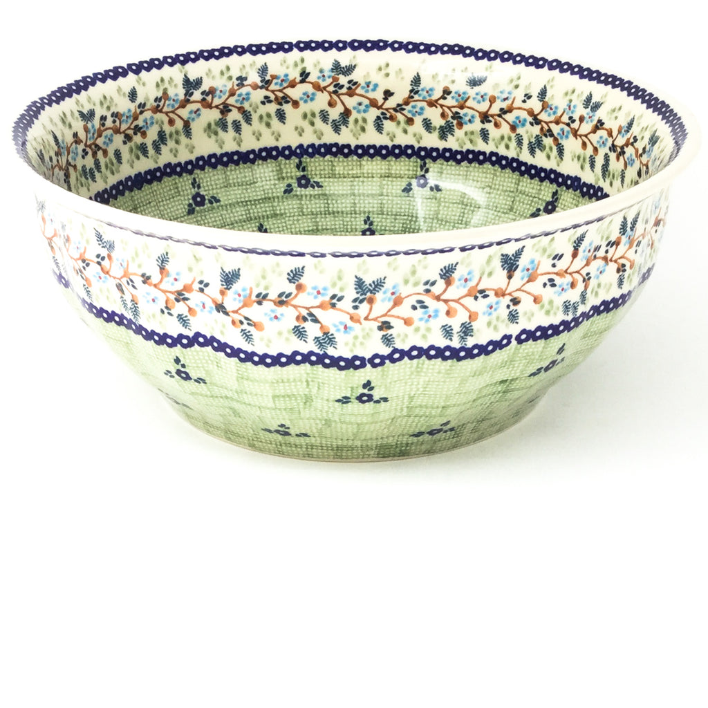 Scalloped Bowl 128 oz in Spring Garden