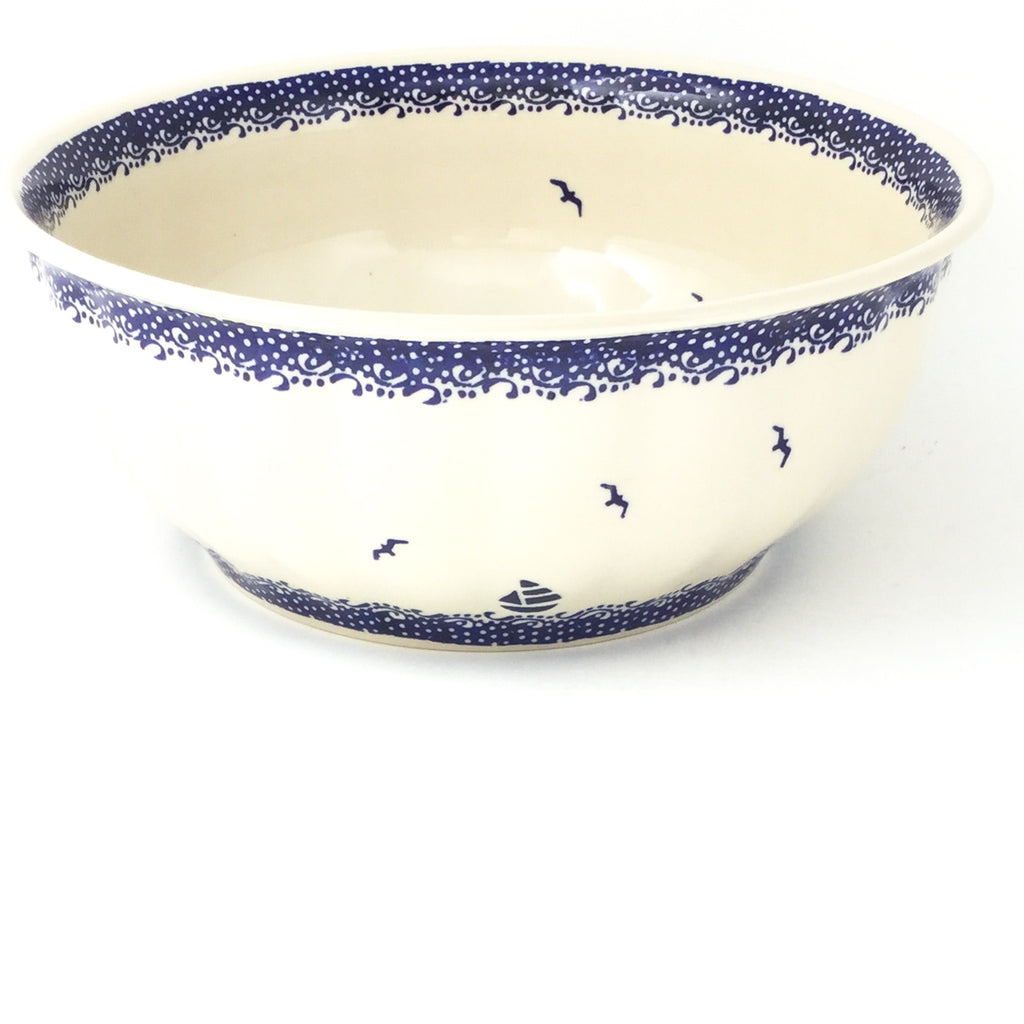 Scalloped Bowl 128 oz in Sailboat