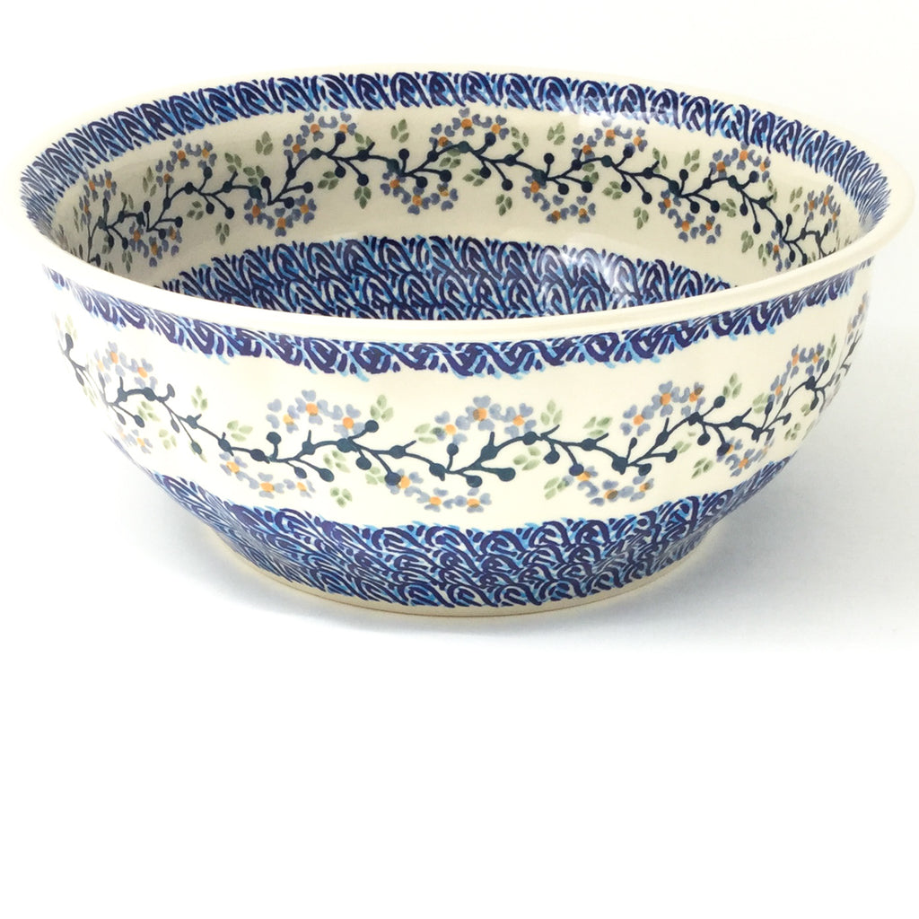 Scalloped Bowl 128 oz in Blue Meadow