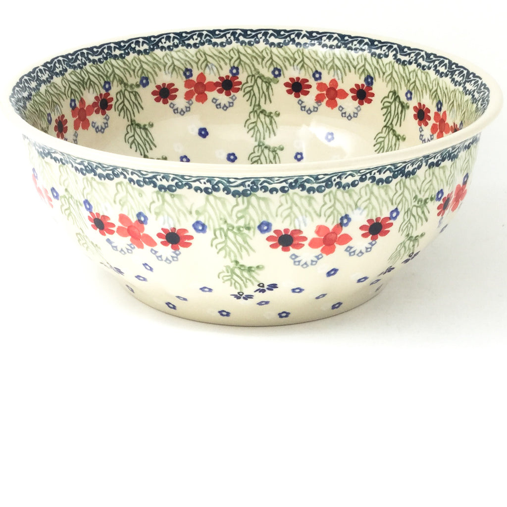 Scalloped Bowl 128 oz in Dill Flowers