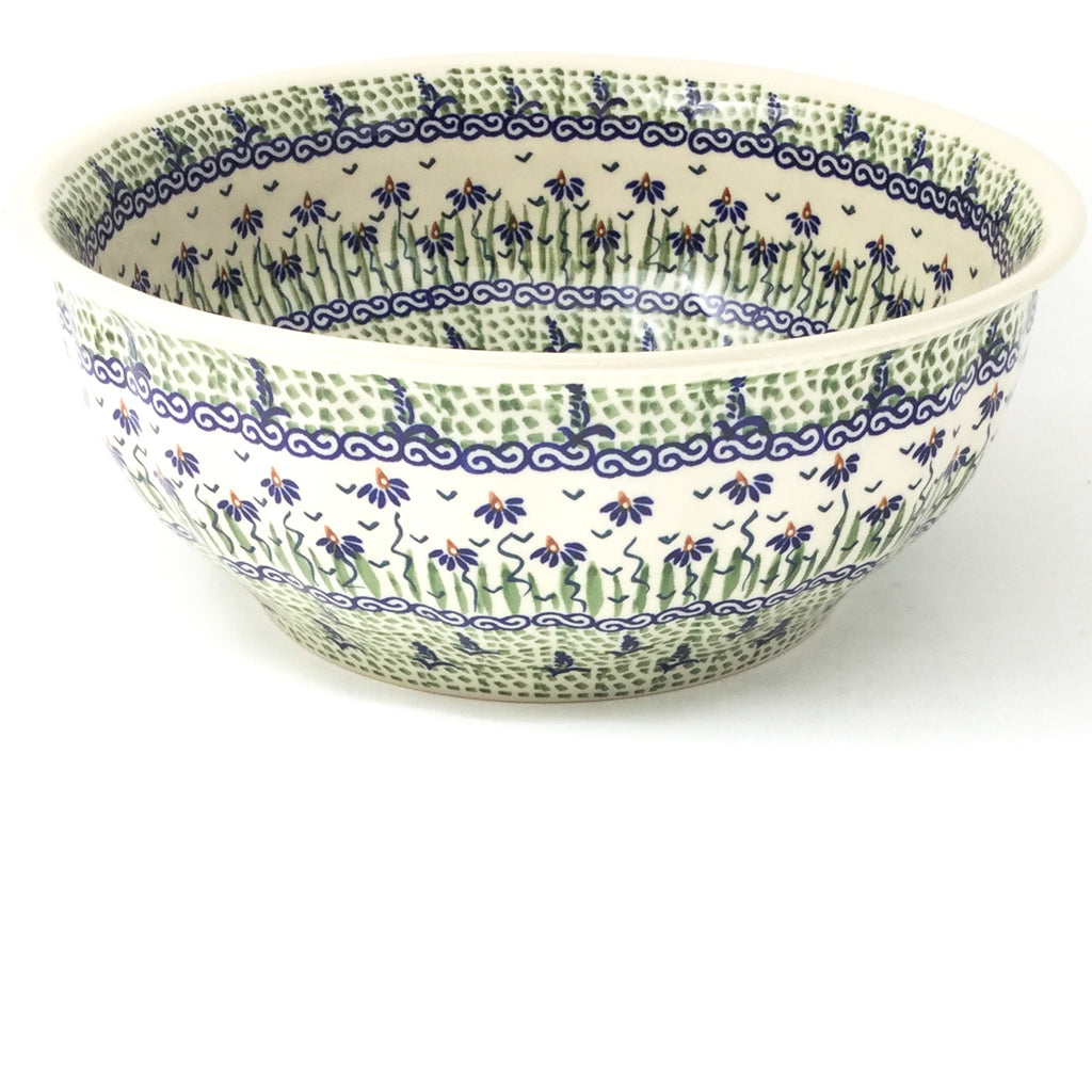 Scalloped Bowl 128 oz in Blue Iris