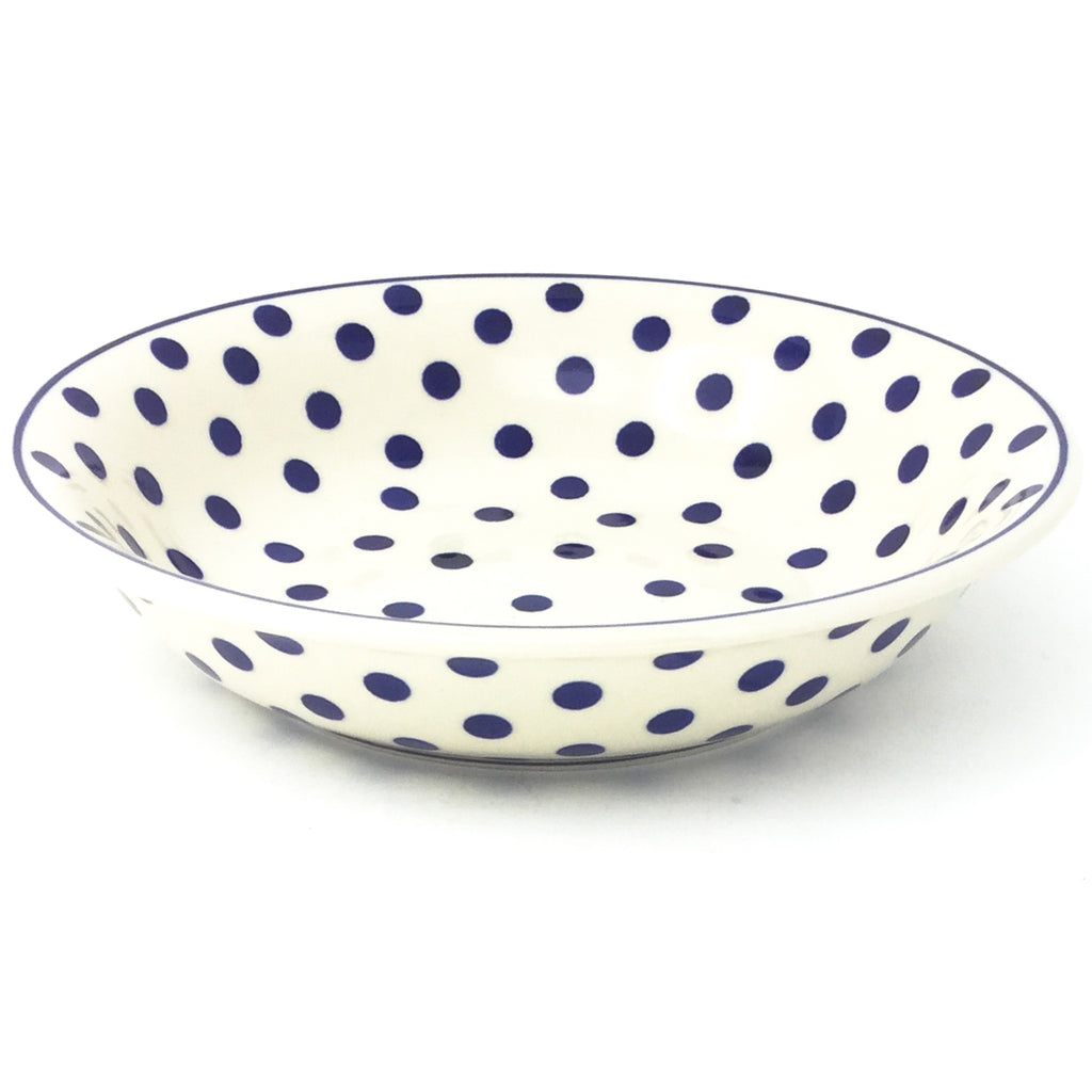 Sm Pasta Bowl in Blue Polka-Dot