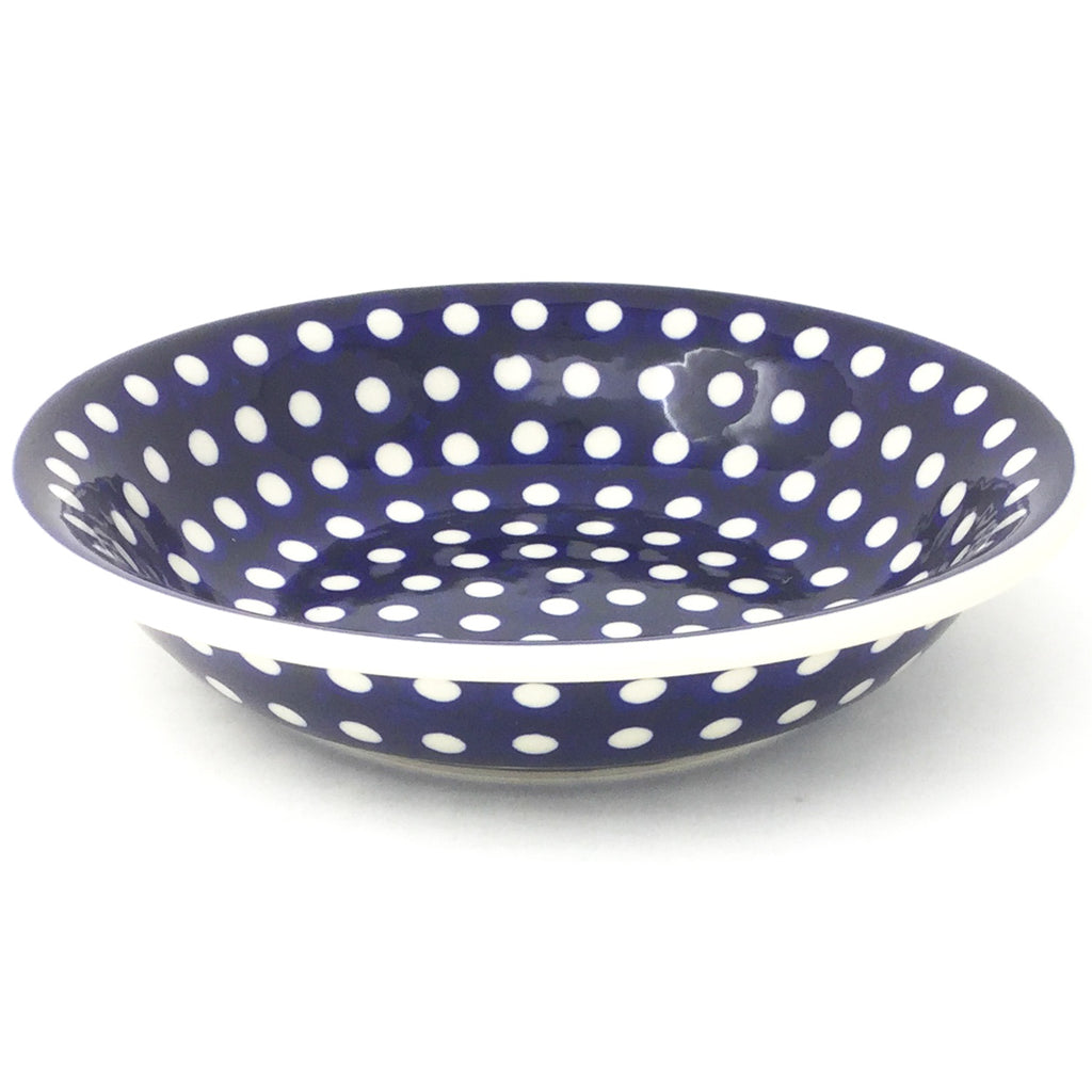 Sm Pasta Bowl in White Polka-Dot