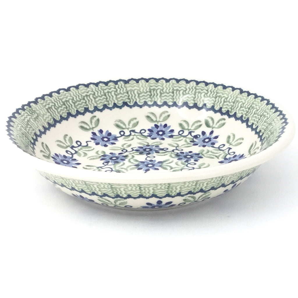 Sm Pasta Bowl in Blue & Green Flowers