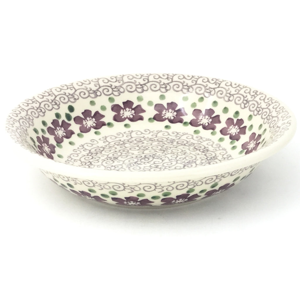 Sm Pasta Bowl in Purple & Gray Flowers