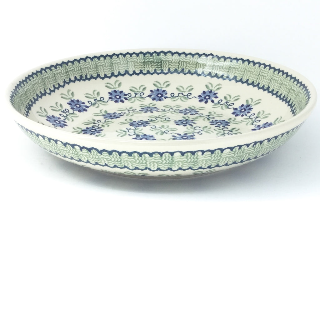 Lg Pasta Bowl in Blue & Green Flowers