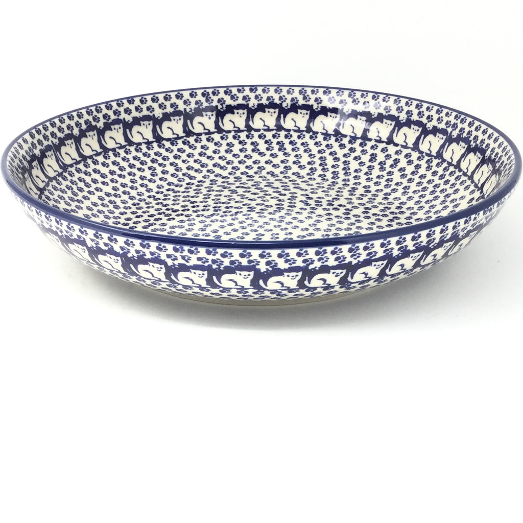 Lg Pasta Bowl in Blue Cats
