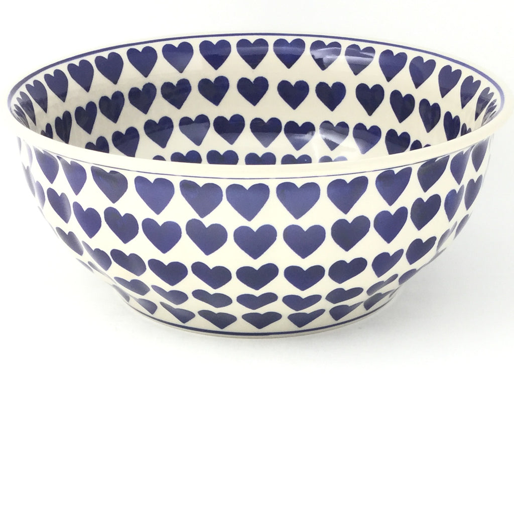 Scalloped Bowl 128 oz in Large Hearts