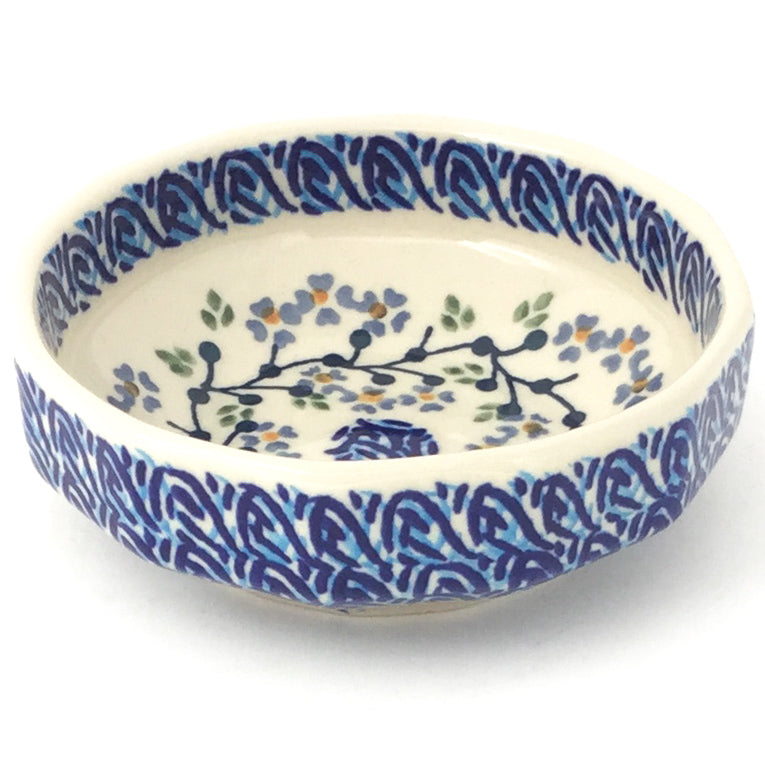 Shallow Little Bowl 12 oz in Blue Meadow