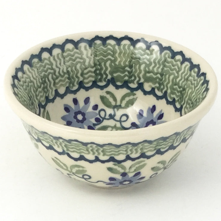 Spice & Herb Bowl 8 oz in Blue & Green Flowers
