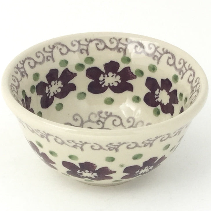 Spice & Herb Bowl 8 oz in Purple & Gray Flowers