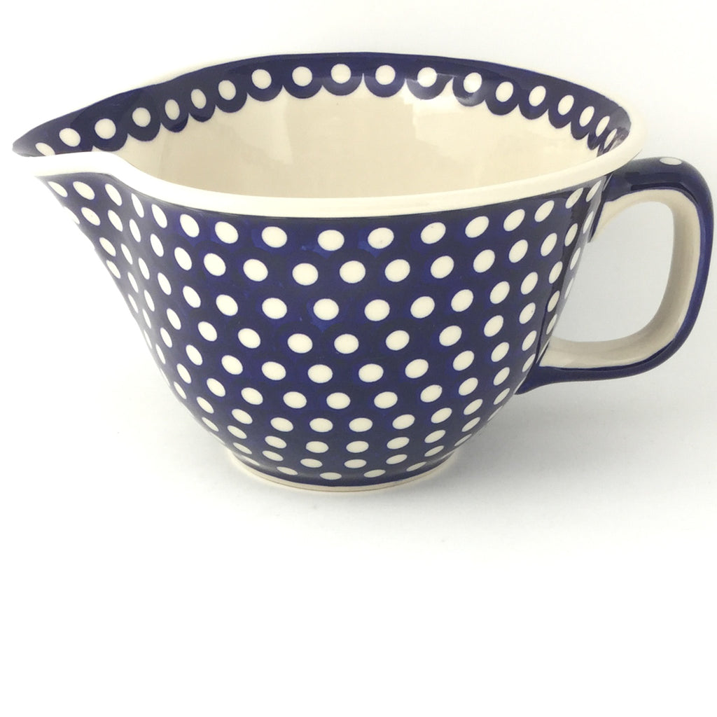 Batter Bowl 64 oz in White Polka-Dot