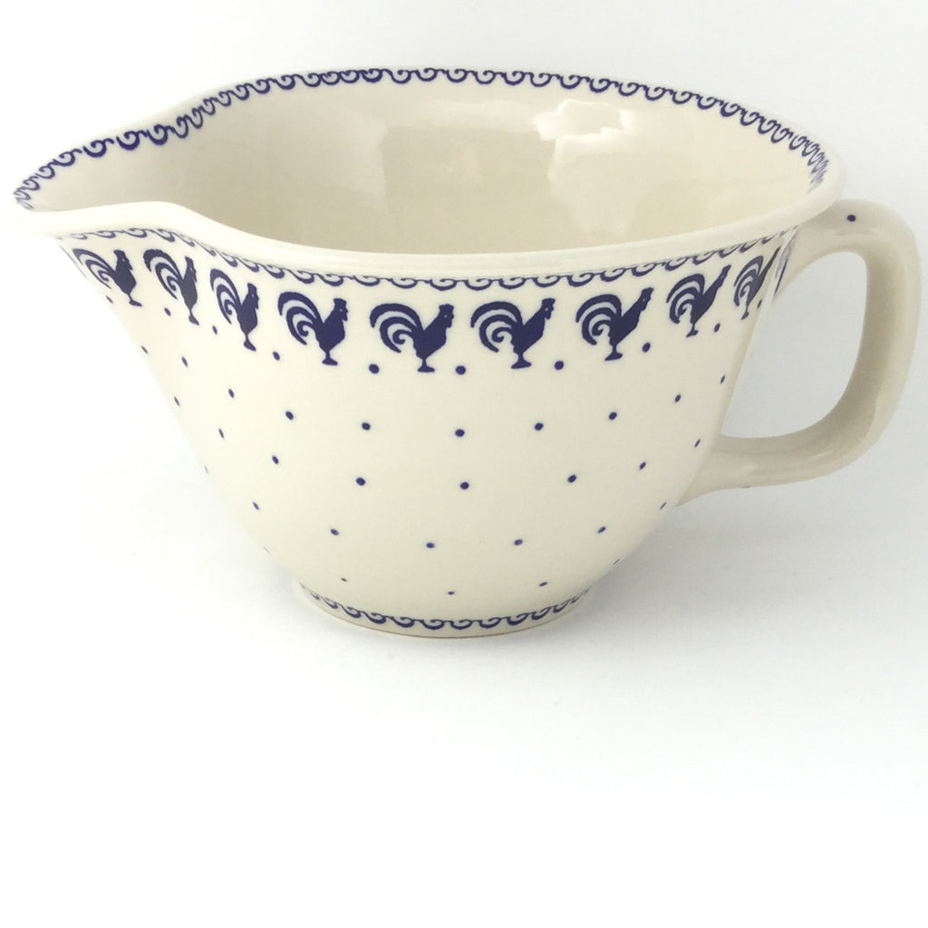 Batter Bowl 64 oz in Blue Roosters