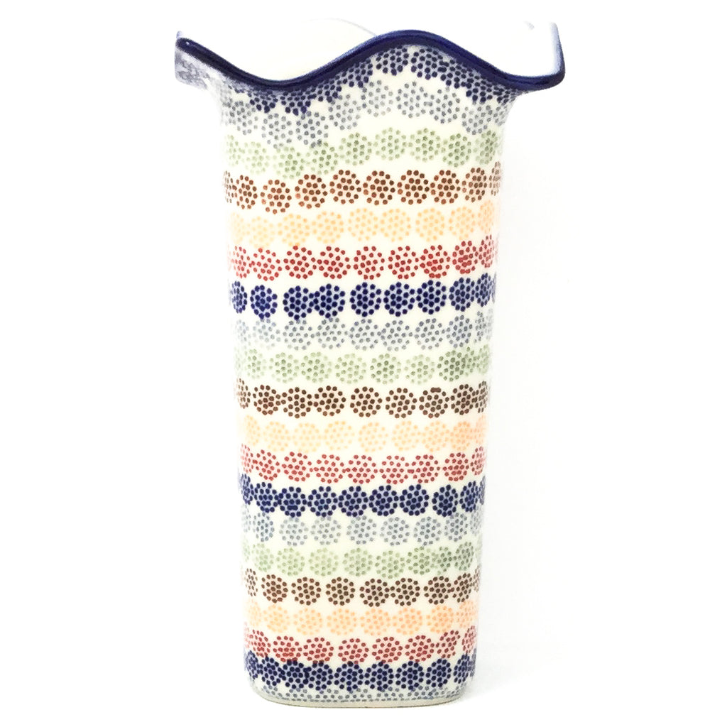 Fluted Vase in Modern Dots