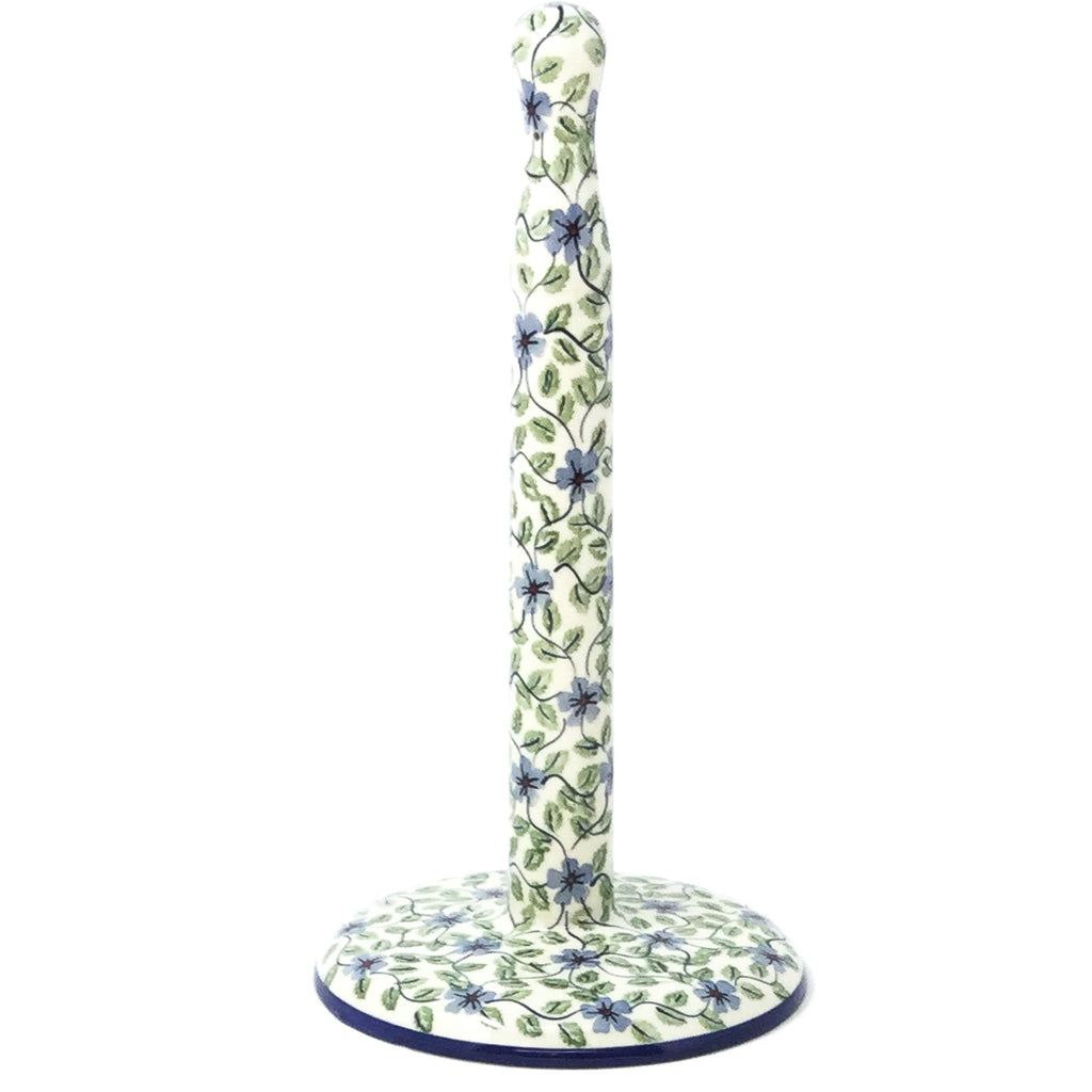 Paper Towel Holder in Blue Clematis