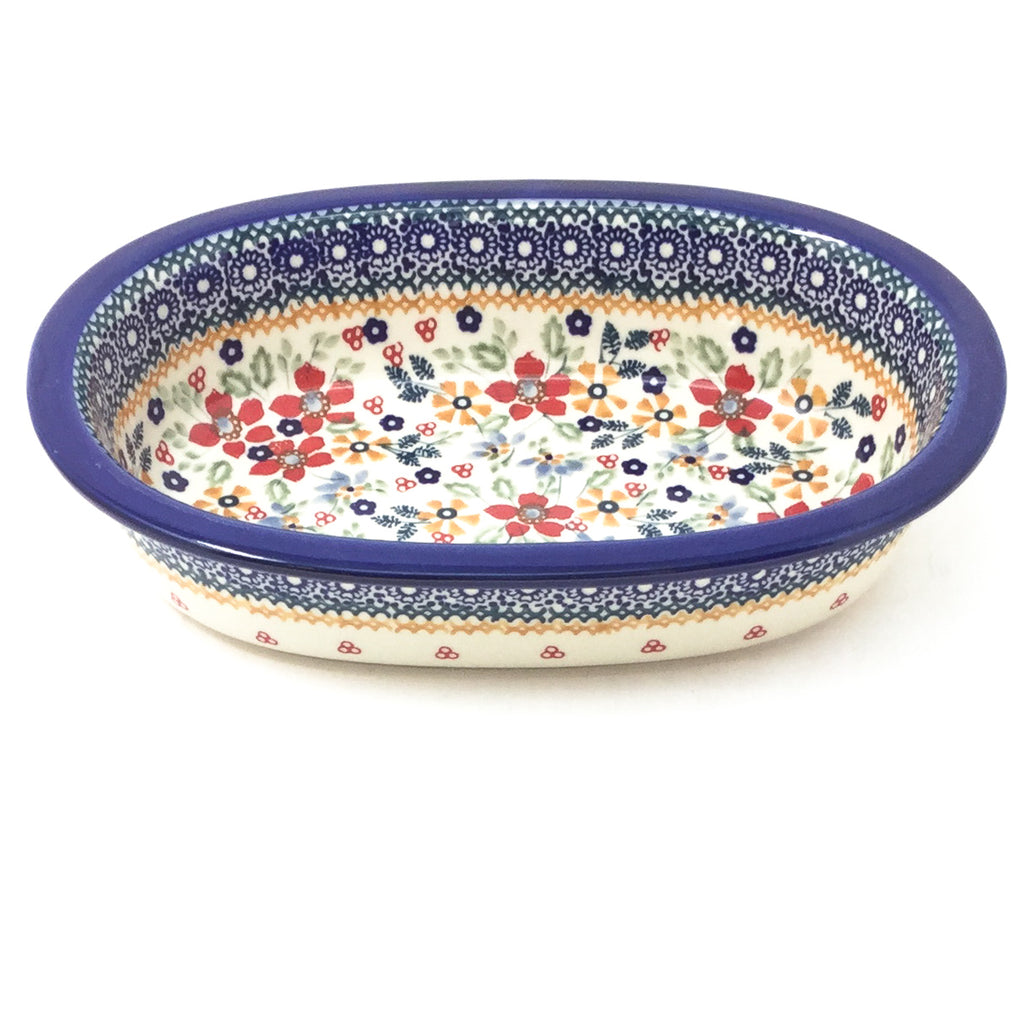 Polish Pottery Sm Oval Baker