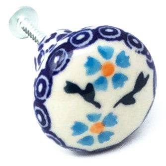 Drawer Pull in Blue Daisy