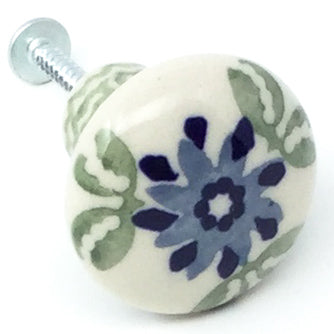 Drawer Pull in Blue & Green Flowers