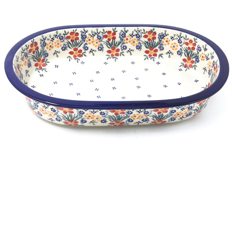 Lg Oval Baker in Delicate Flowers
