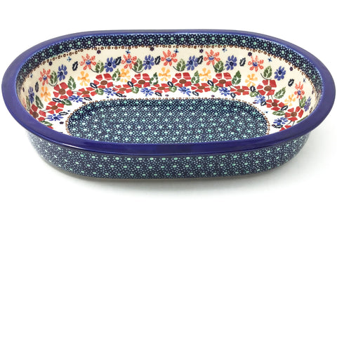 Lg Oval Baker in Wild Flowers