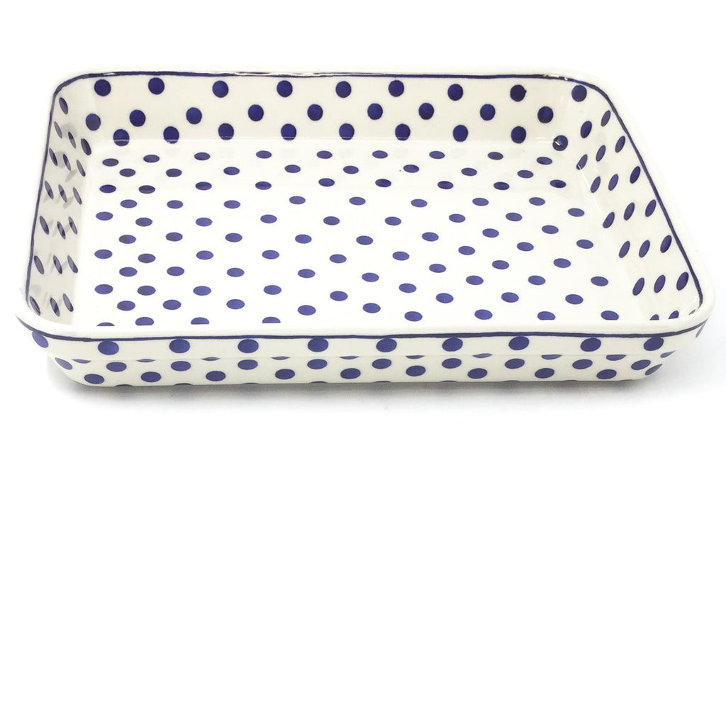 Lg Rect. Baker in Blue Polka-Dot