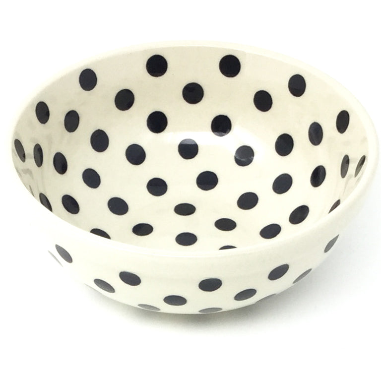 Dessert Bowl 12 oz in Black Polka-Dot