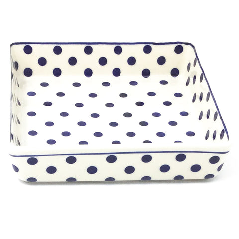 Square Baker in Blue Polka-Dot