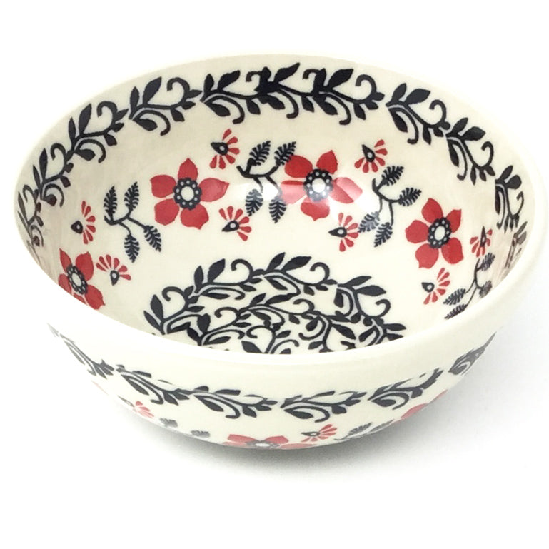 Dessert Bowl 12 oz in Red & Black