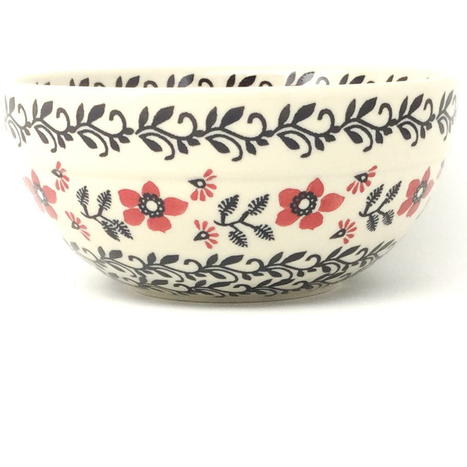 Soup Bowl 24 oz in Red & Black