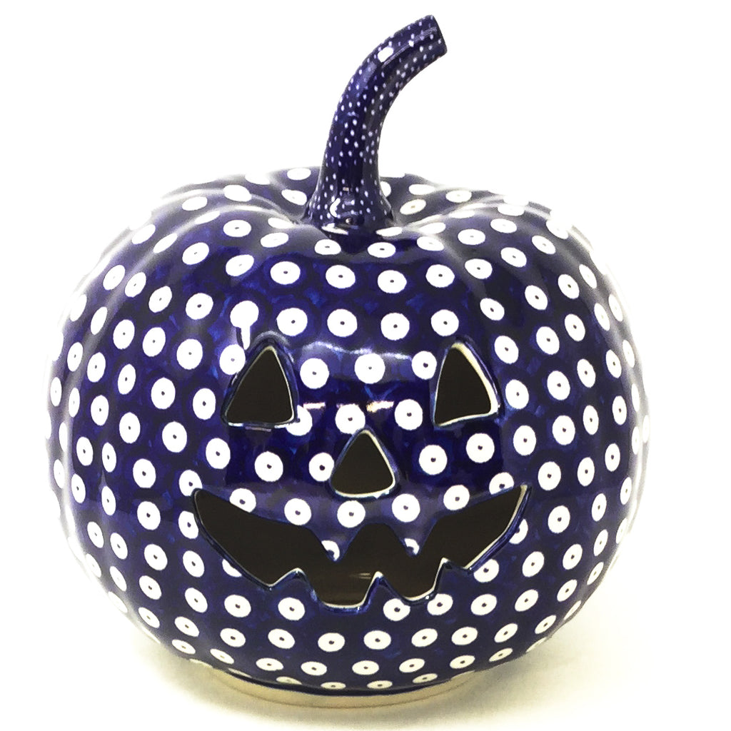 Lg Pumpkin in Traditional Blue