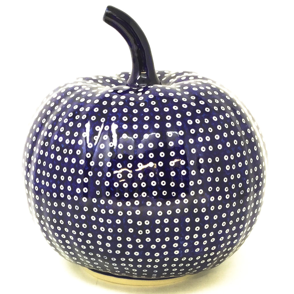 Lg Pumpkin in Blue Elegance