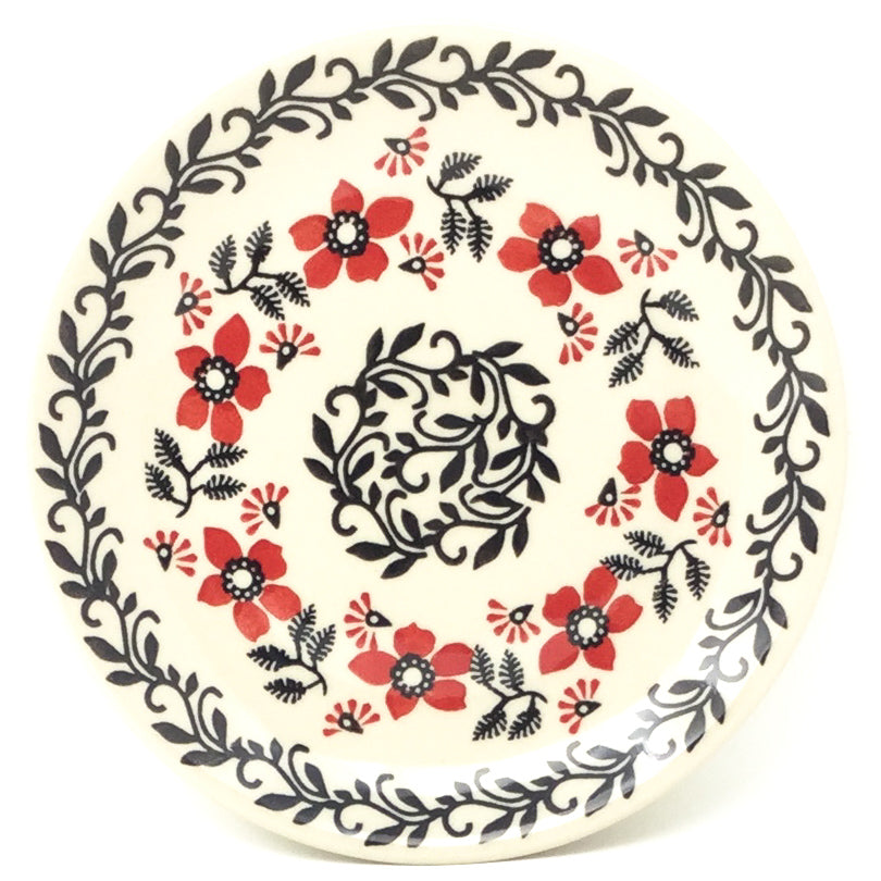 Bread & Butter Plate in Red & Black