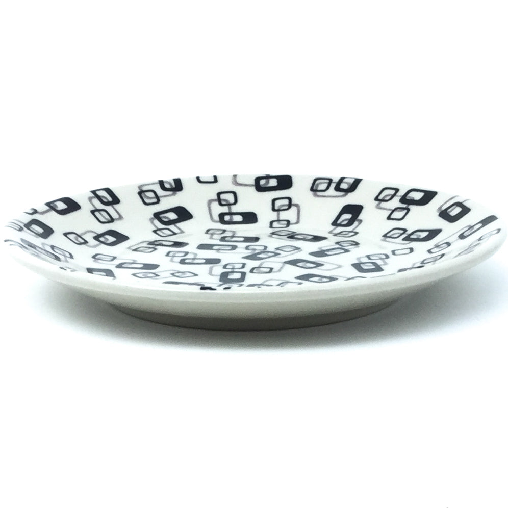 Bread & Butter Plate in Modern Gray & Black